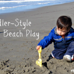 Toddler-Style Winter Beach Play - Featured
