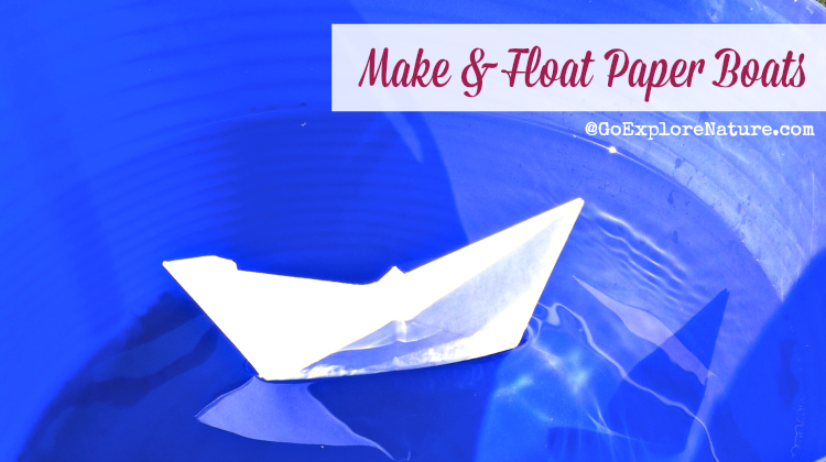 For a fun backyard water activity for kids this summer, make & float paper boats. Here are a few ways to turn this craft into a simple science experiment.