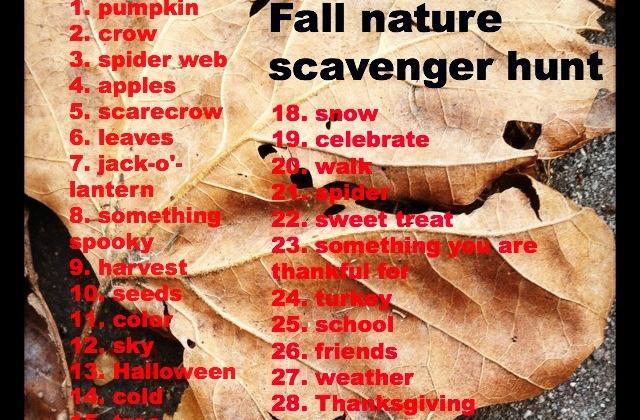 Fall-nature-scavenger-hunt