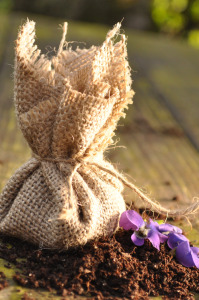 Flower seed pockets