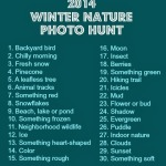 Fun Friday: 2014 Winter Nature Photo Hunt