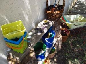 Backyard nature play station